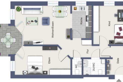Verkauft: 3.5 - Zi. Wohnung in Forstackerstrasse 11, 4800 Zofingen: Wohnung mit grossem Sitzplatz an top Lage!