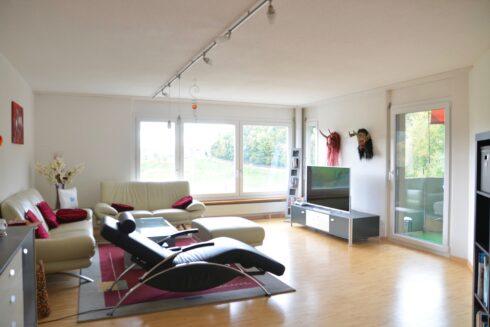 Verkauft: 3.5 - Zi. Wohnung in Sonnenwandstrasse 7, 4812 Mühlethal: Unverbaubare Weitsicht und viel Sonnenschein